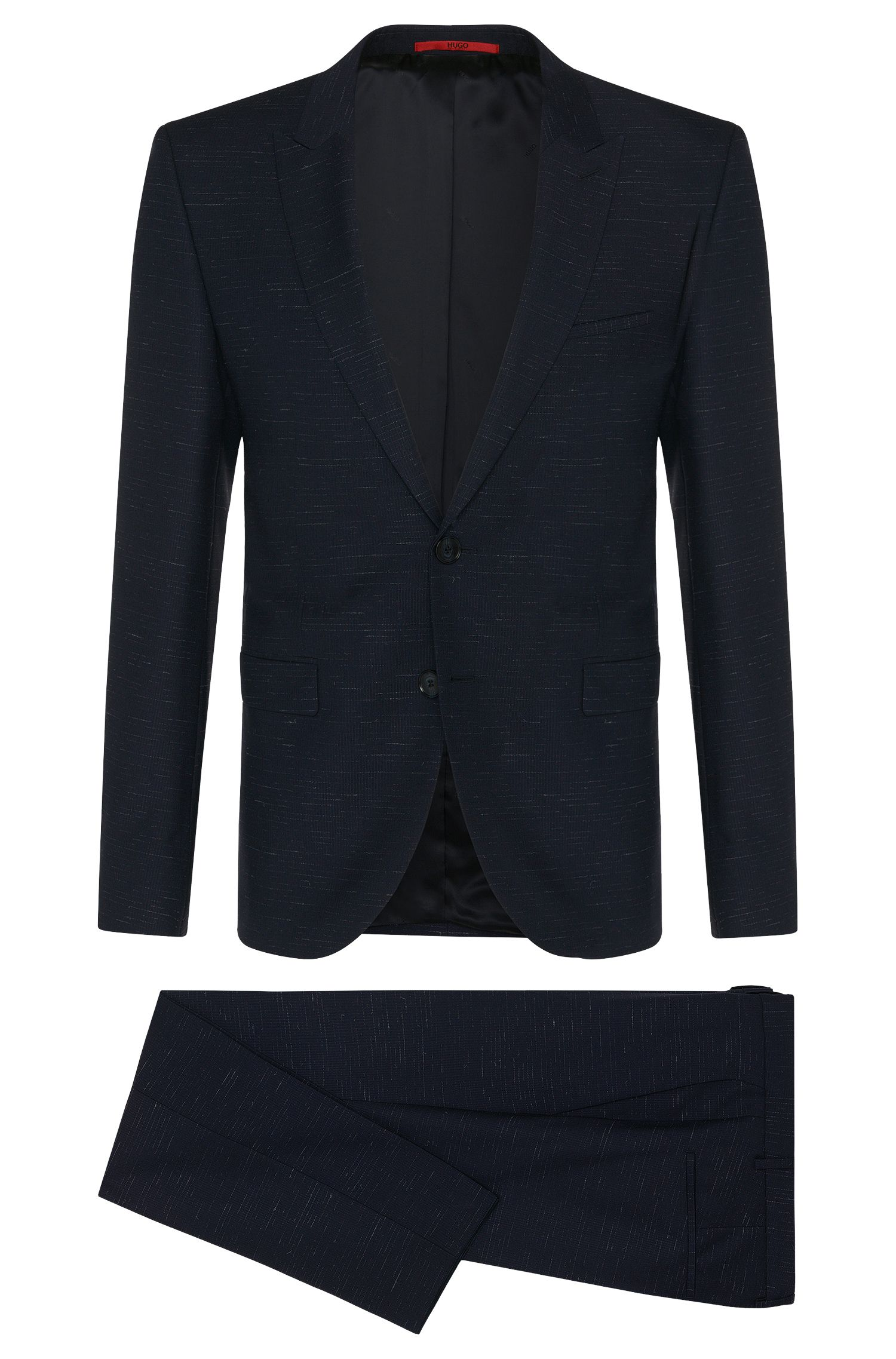 Super 110 Virgin Wool Suit, Extra-Slim Fit| Astor/Hends