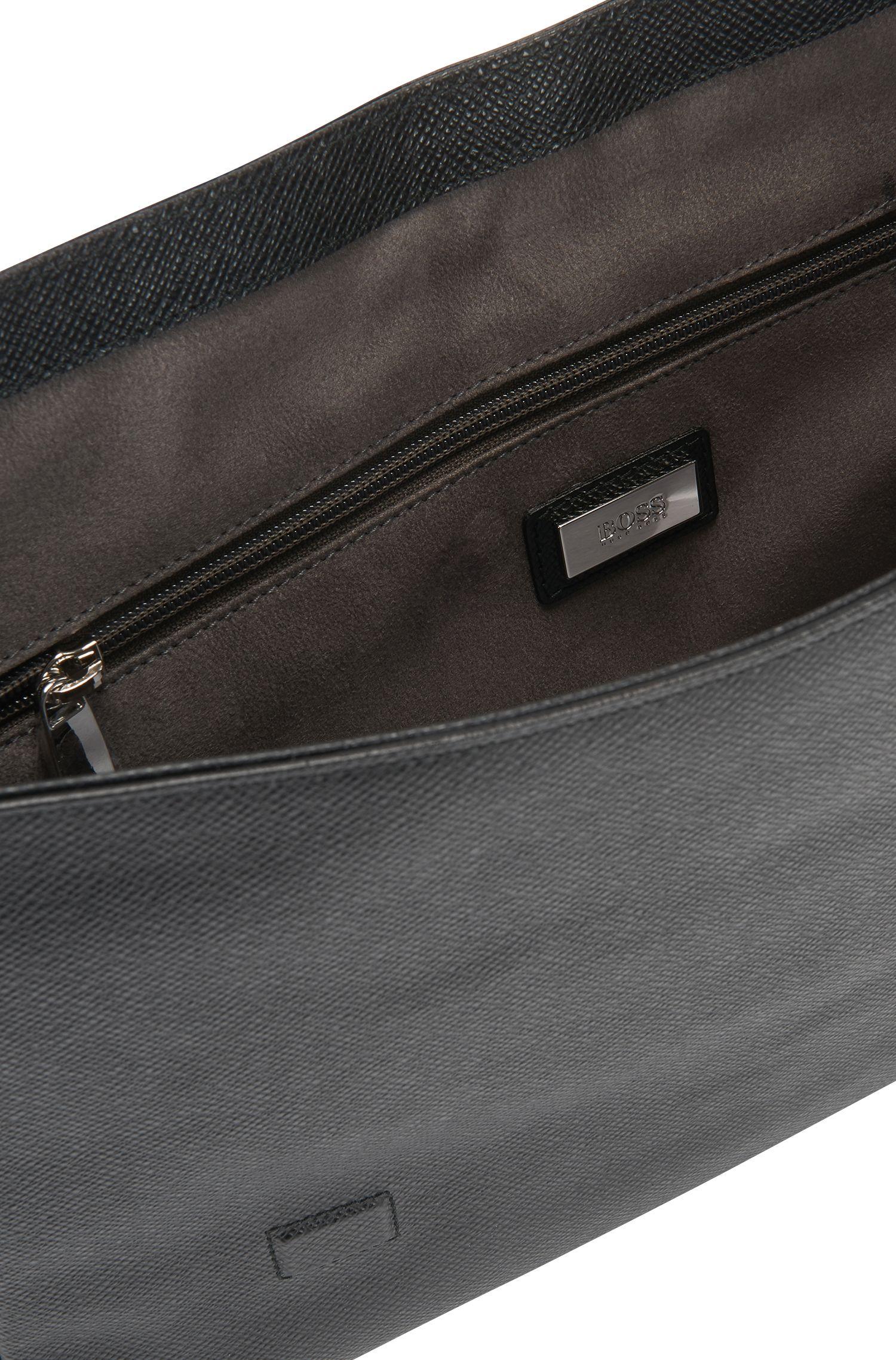 Signature Mess Flap' | Leather Messenger Bag, Shoulder Strap