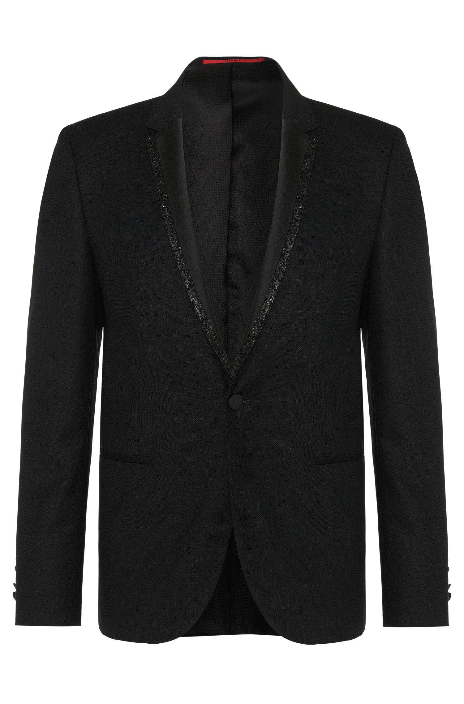 Virgin Wool Glitter Lapel Sport Coat, Extra Slim Fit | Adrison
