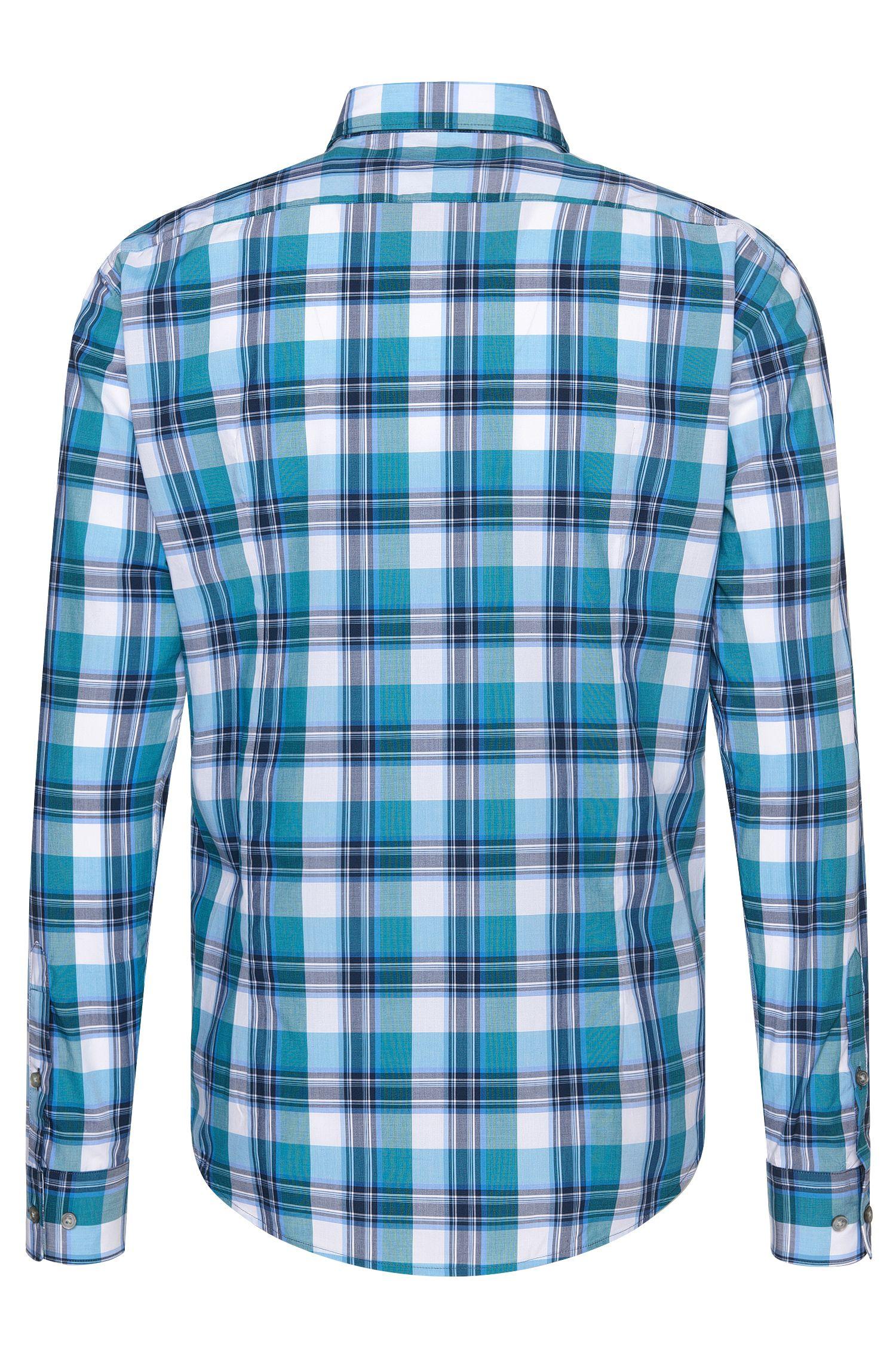 Cotton Button Down Shirt, Slim Fit   Robbie, Light Blue