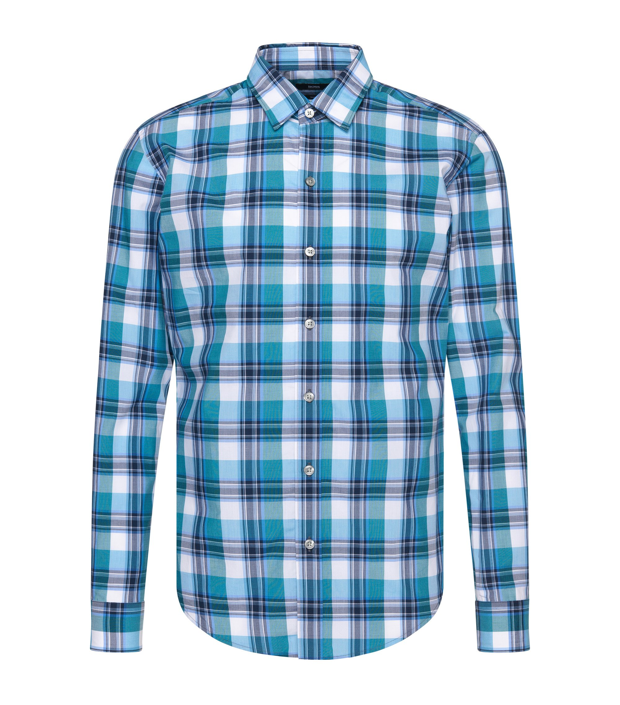 Cotton Button Down Shirt, Slim Fit | Robbie, Light Blue