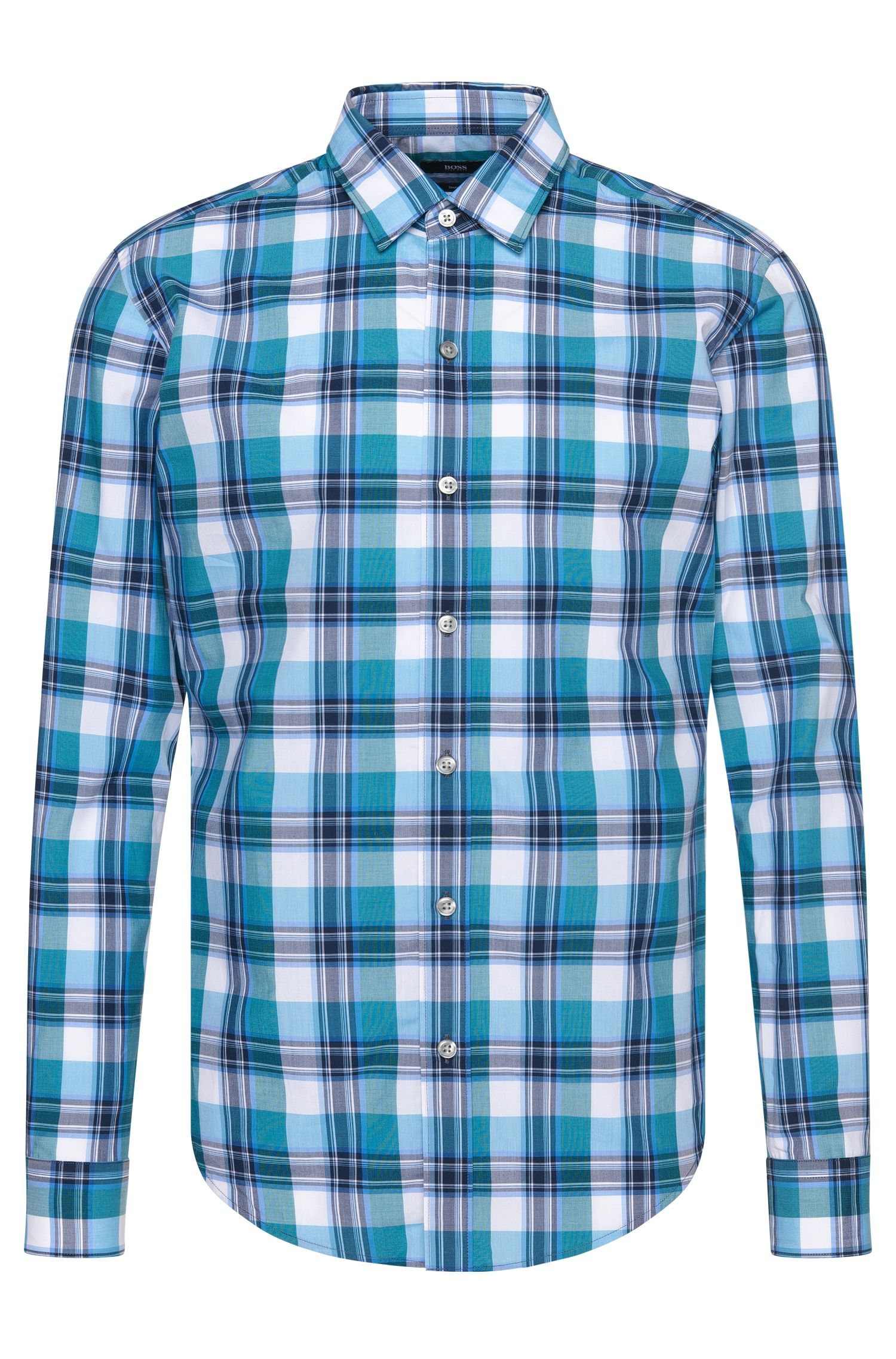 Cotton Button Down Shirt, Slim Fit | Robbie
