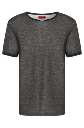 Cotton Blend Melange T-Shirt | Dircus, Black