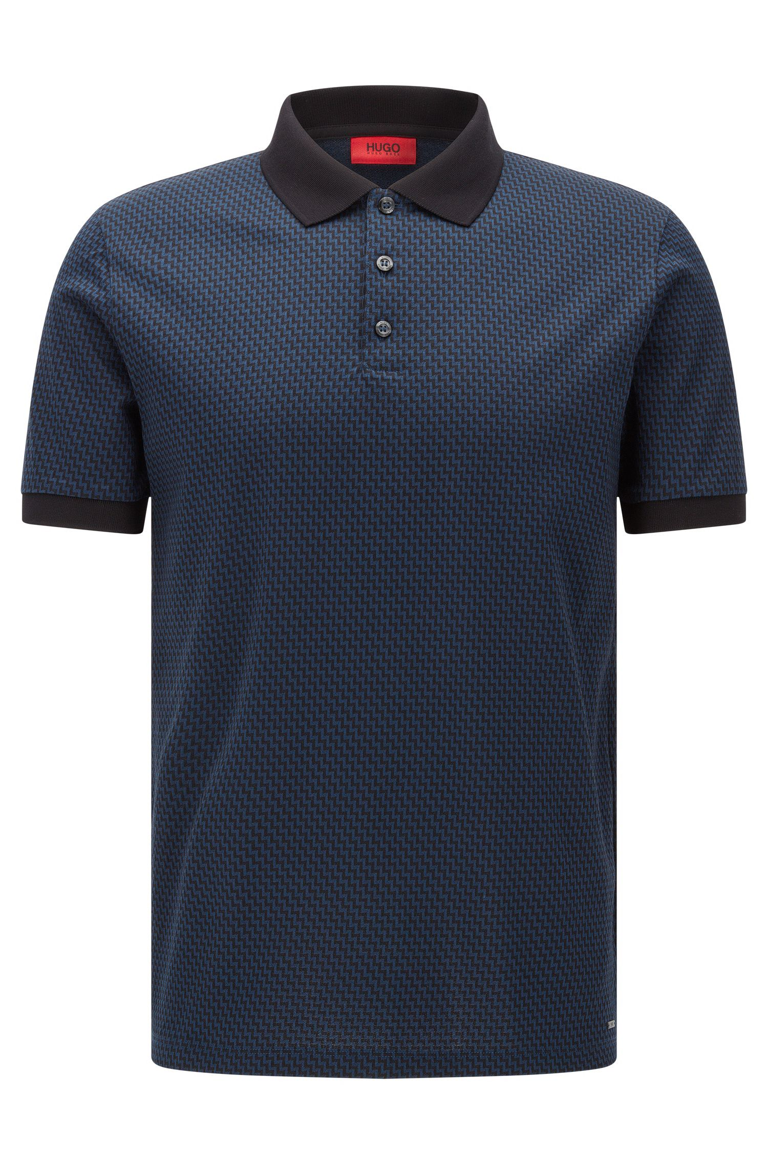 Cotton Jacquard Polo Shirt, Regular Fit | Devron