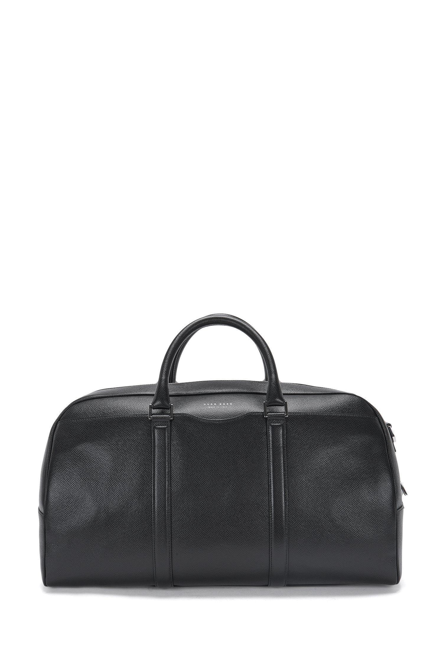 'Signature S Hold'   Calfskin Weekender Bag, Detachable Shoulder Strap