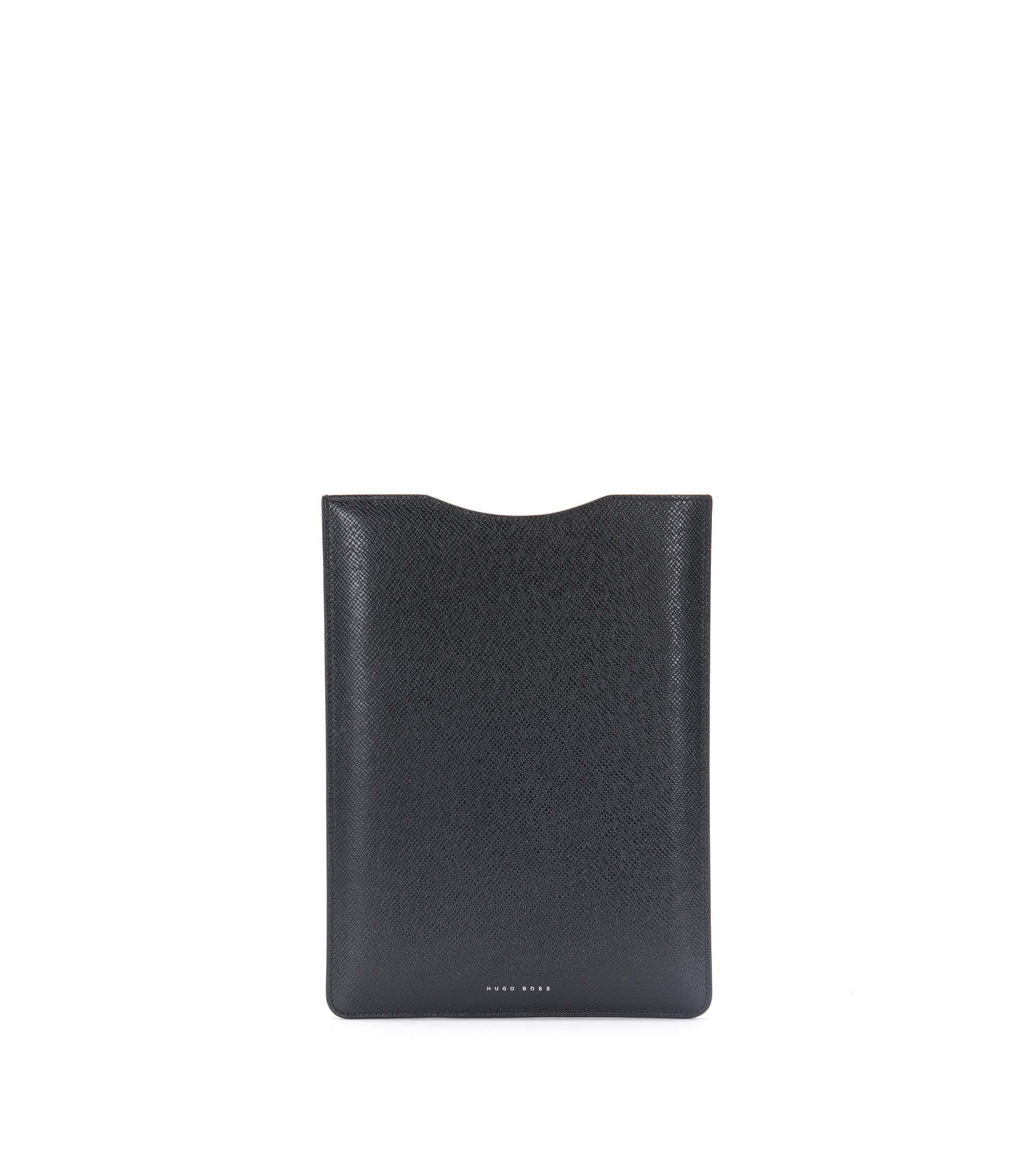 Leather Embossed Tablet Sleeve | Signature Tablet, Black