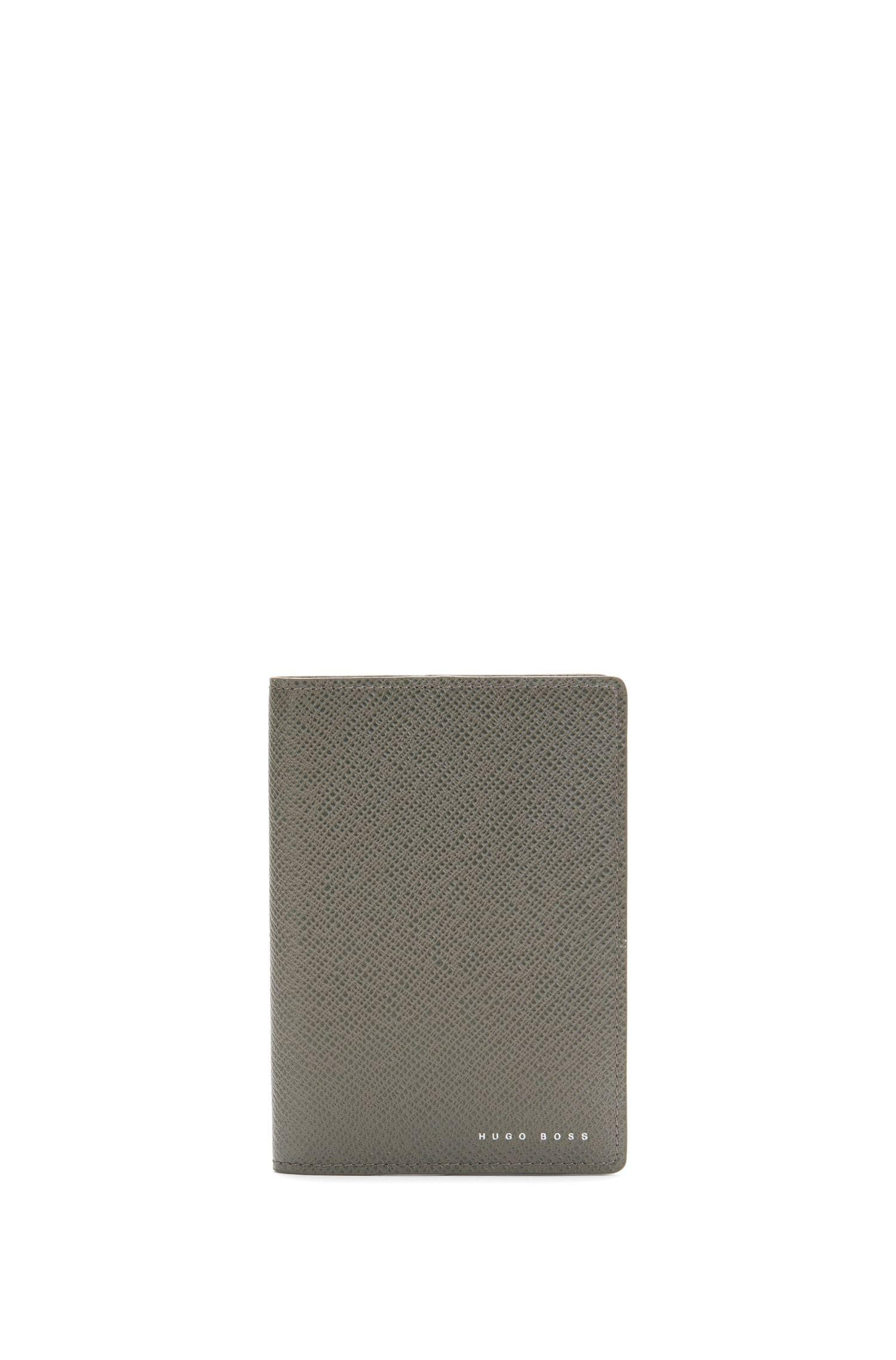 'Signature Passport B' | Leather Embossed Passport Holder