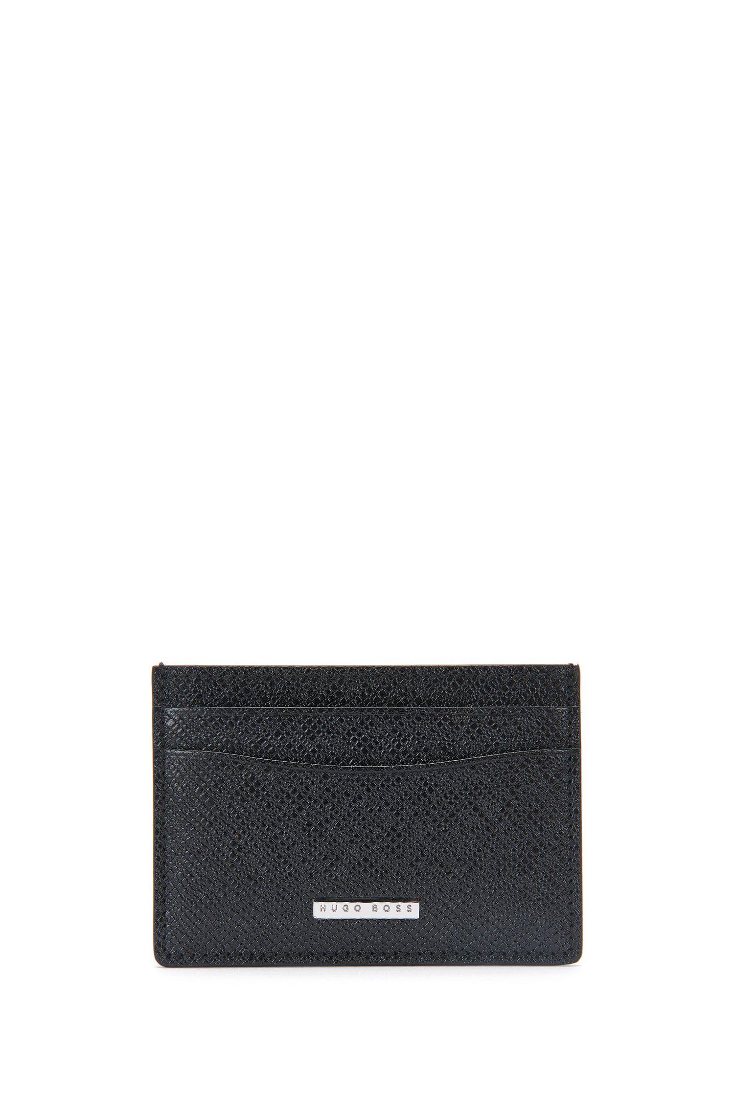 'Signature CC Window' | Calfskin Card Case with ID Window
