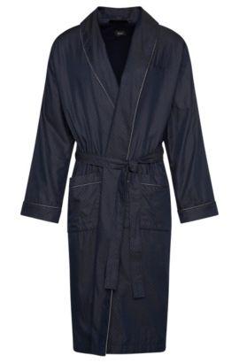 Cotton Belted Robe | Shawl Collar Robe, Dark Blue