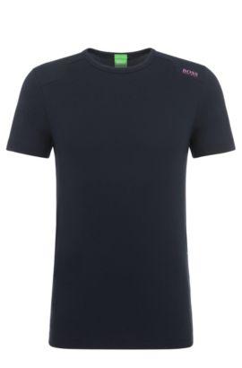 'Teenox'   Stretch Cotton Blend Logo T-Shirt, Dark Blue