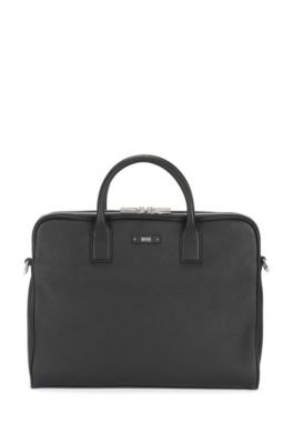 Leather Workbag | Traveller D Z Comp, Black