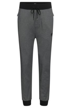 Cotton Blend Lounge Pant | Long Pant Cuffs, Black