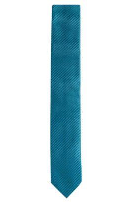'Tie 6 cm' | Slim, Silk Ribbed Tie, Open Green
