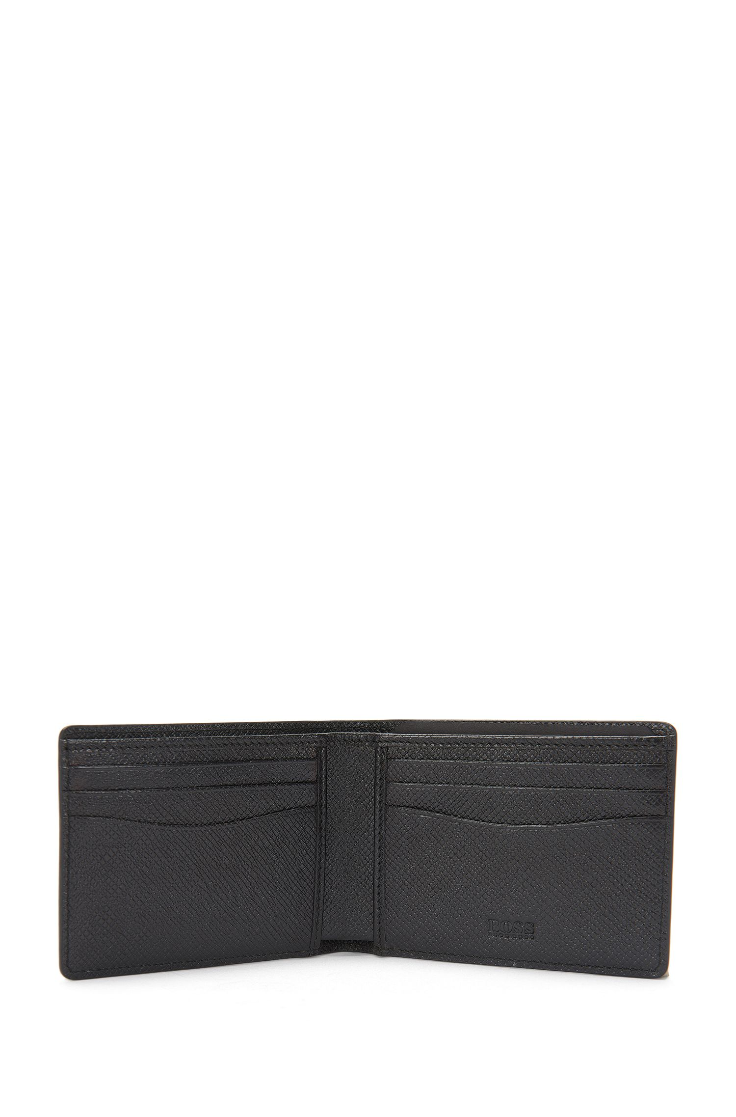 'Signature H CC' | Calfskin Textured Printed Wallet, Patterned