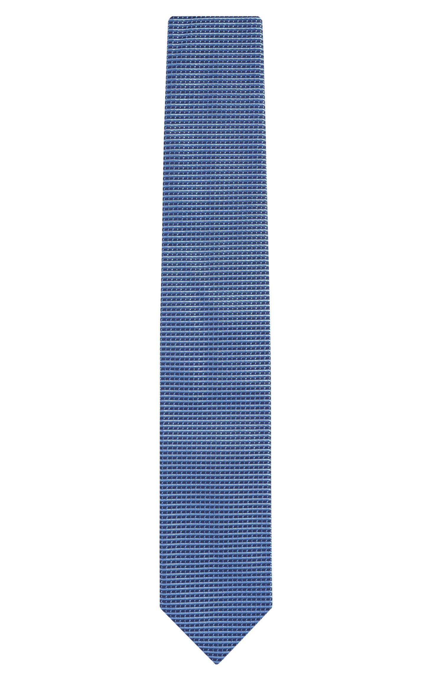 'Tie 7 cm' | Regular, Italian Silk Embroidered Tie, Light Blue