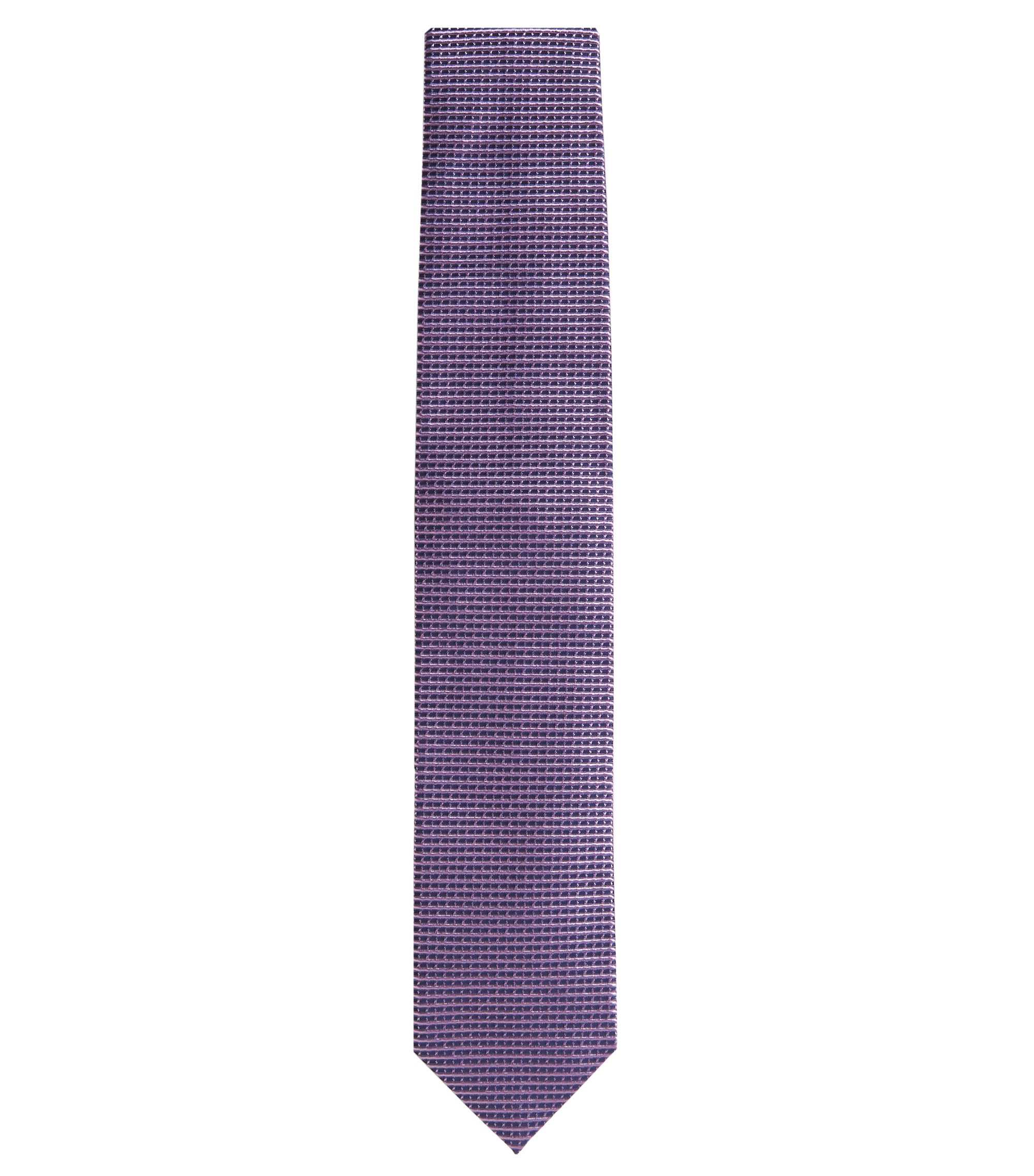 'Tie 7 cm' | Regular, Italian Silk Embroidered Tie, Light Purple