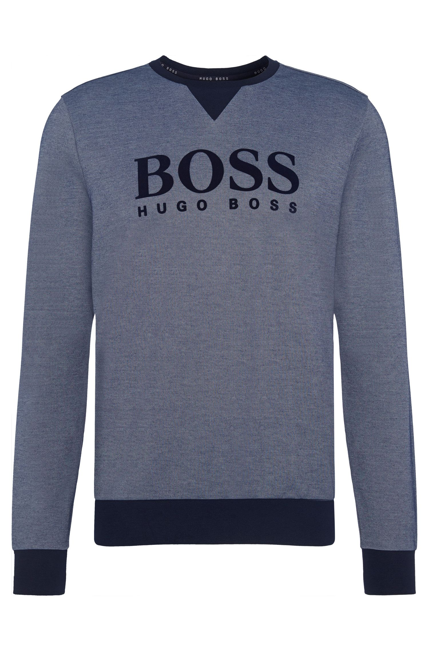 Cotton Blend Flock Logo Sweatshirt | Sweatshirt