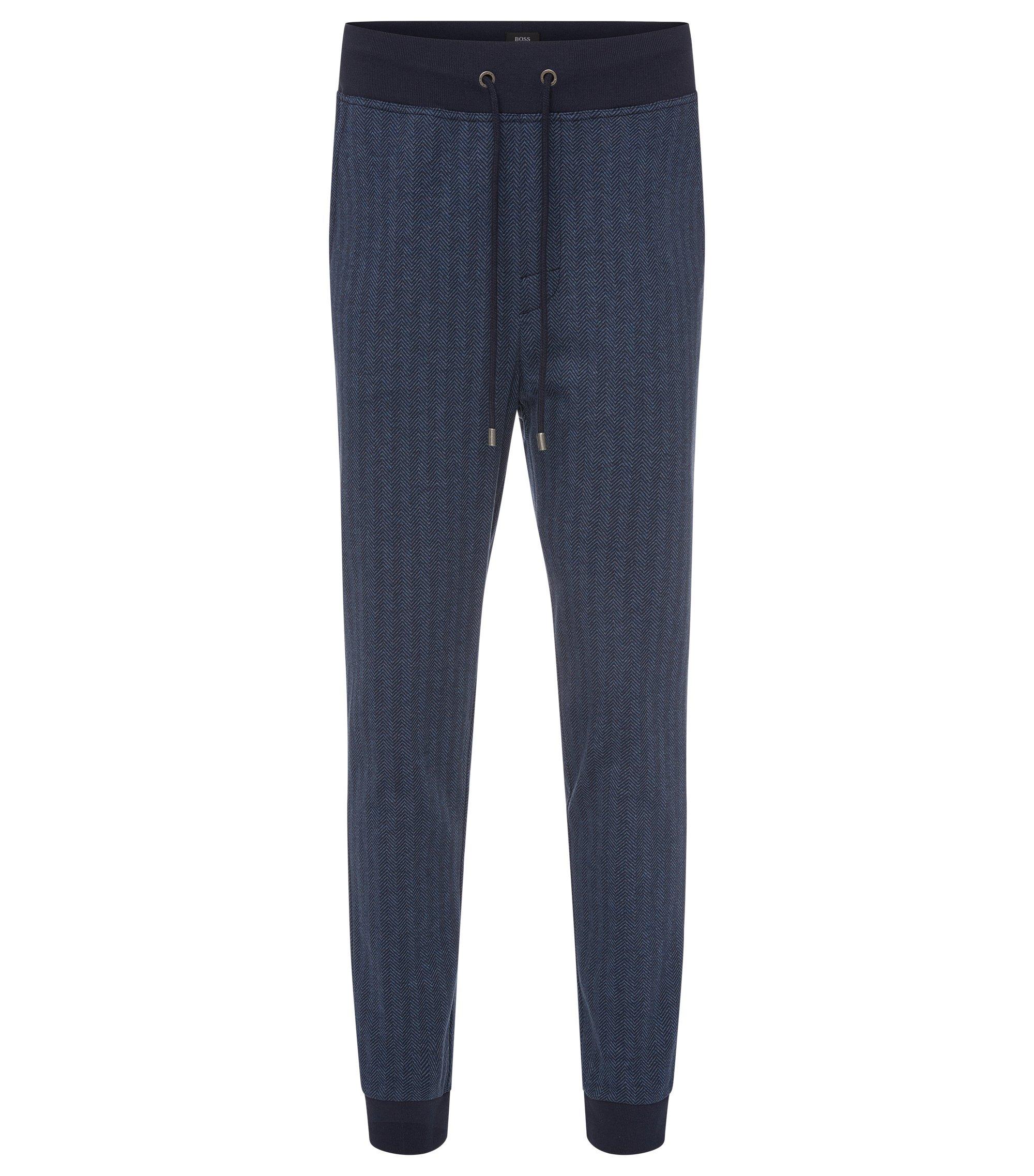Cotton Jersey Lounge Pant | Long Pant Cuffs, Dark Blue