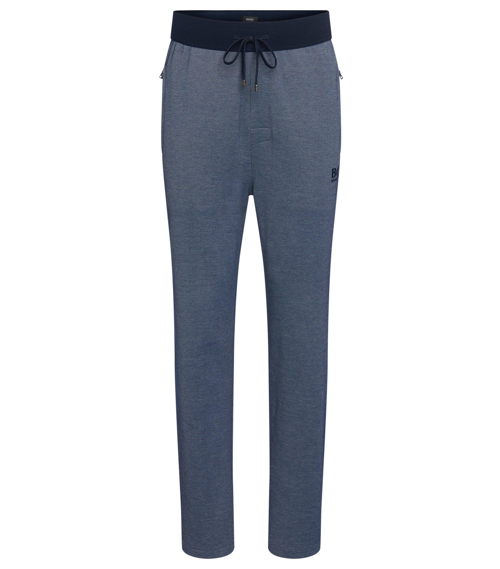 Cotton Blend Drawstring Lounge Pant | Long Pant, Open Blue
