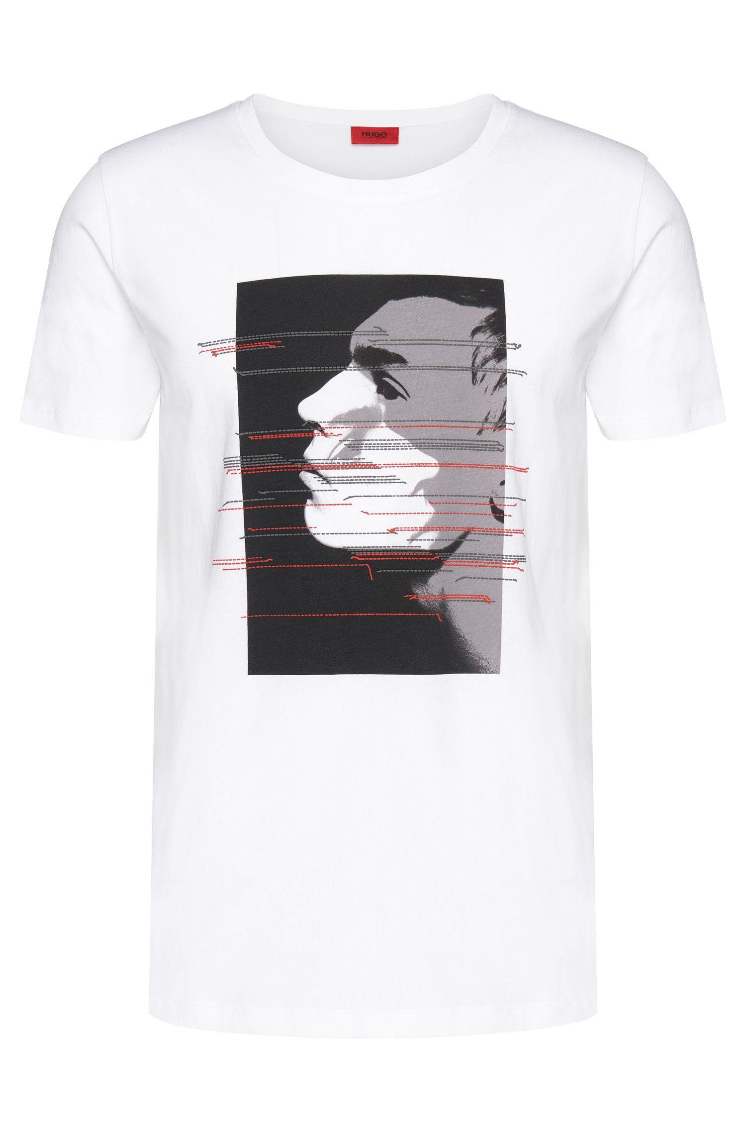 Cotton Printed Profile T-Shirt | Dashas