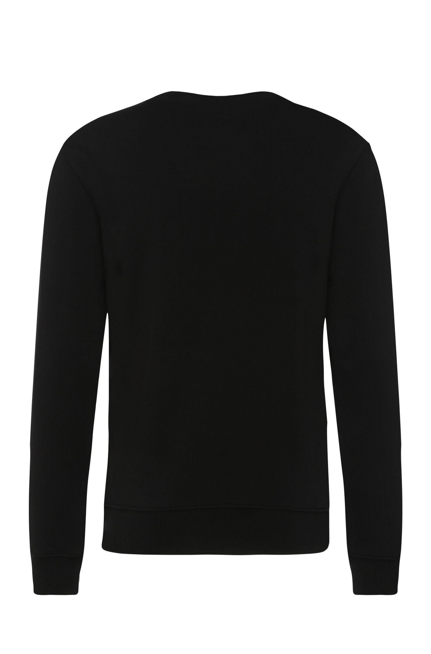 Cotton Lily Print Sweatshirt | Whit