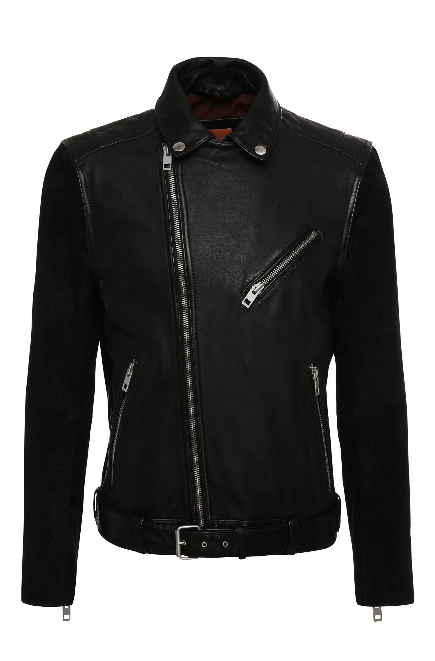 'Jetz' | Mixed Media Leather Biker Jacket