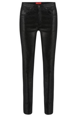 'HUGO 131' | Skinny Fit, 6.6 oz Stretch Cotton Blend Jeans, Black
