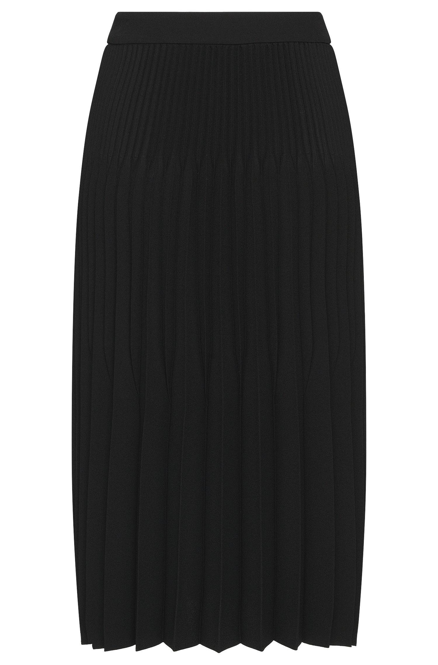 Pleated Flared Skirt | Vikina, Black