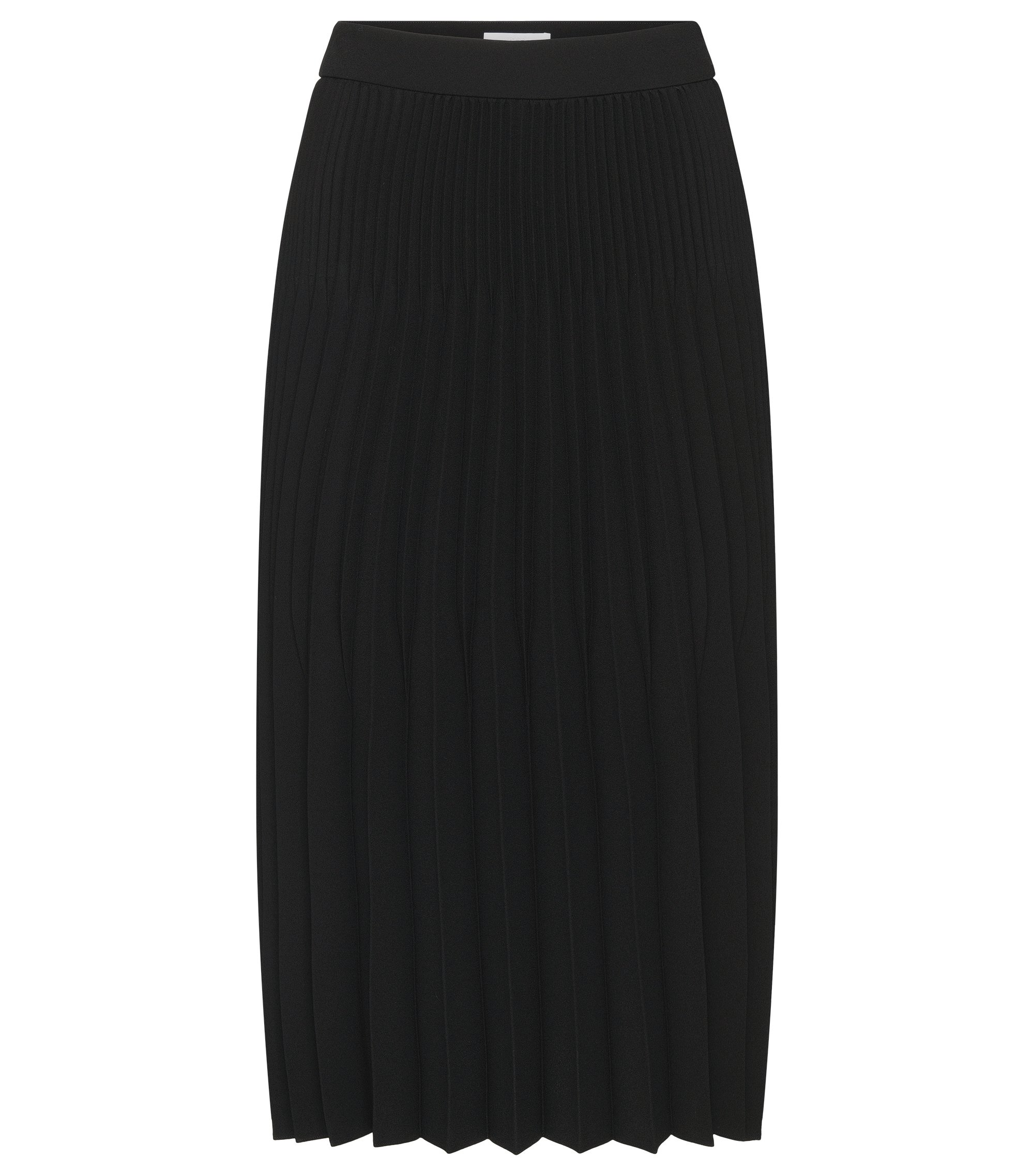 Pleated Flared Skirt | Vikina, Black
