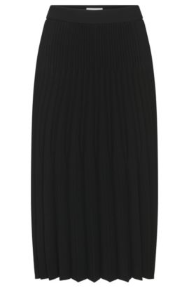 'Vikina' | Pleated Flared Skirt, Black
