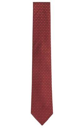 'Tie 7.5 cm' | Regular, Silk Patterned Tie, Dark Purple