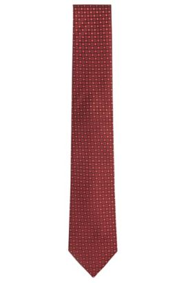 'Tie 7.5 cm' | Regular, Silk Patterned Tie, Dark Purple