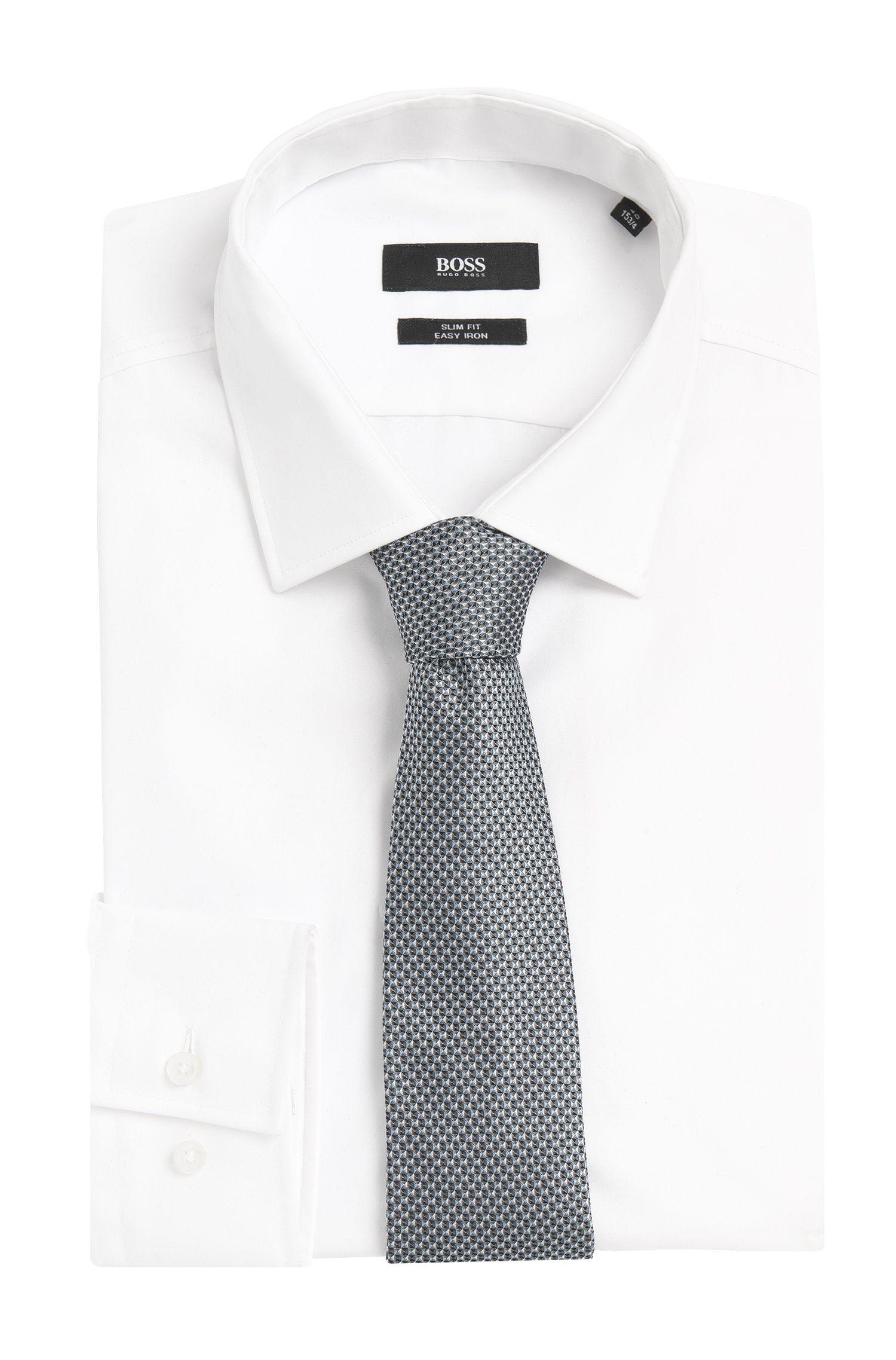 'Tie 7.5 cm' | Regular, Silk Geo Patterned Tie