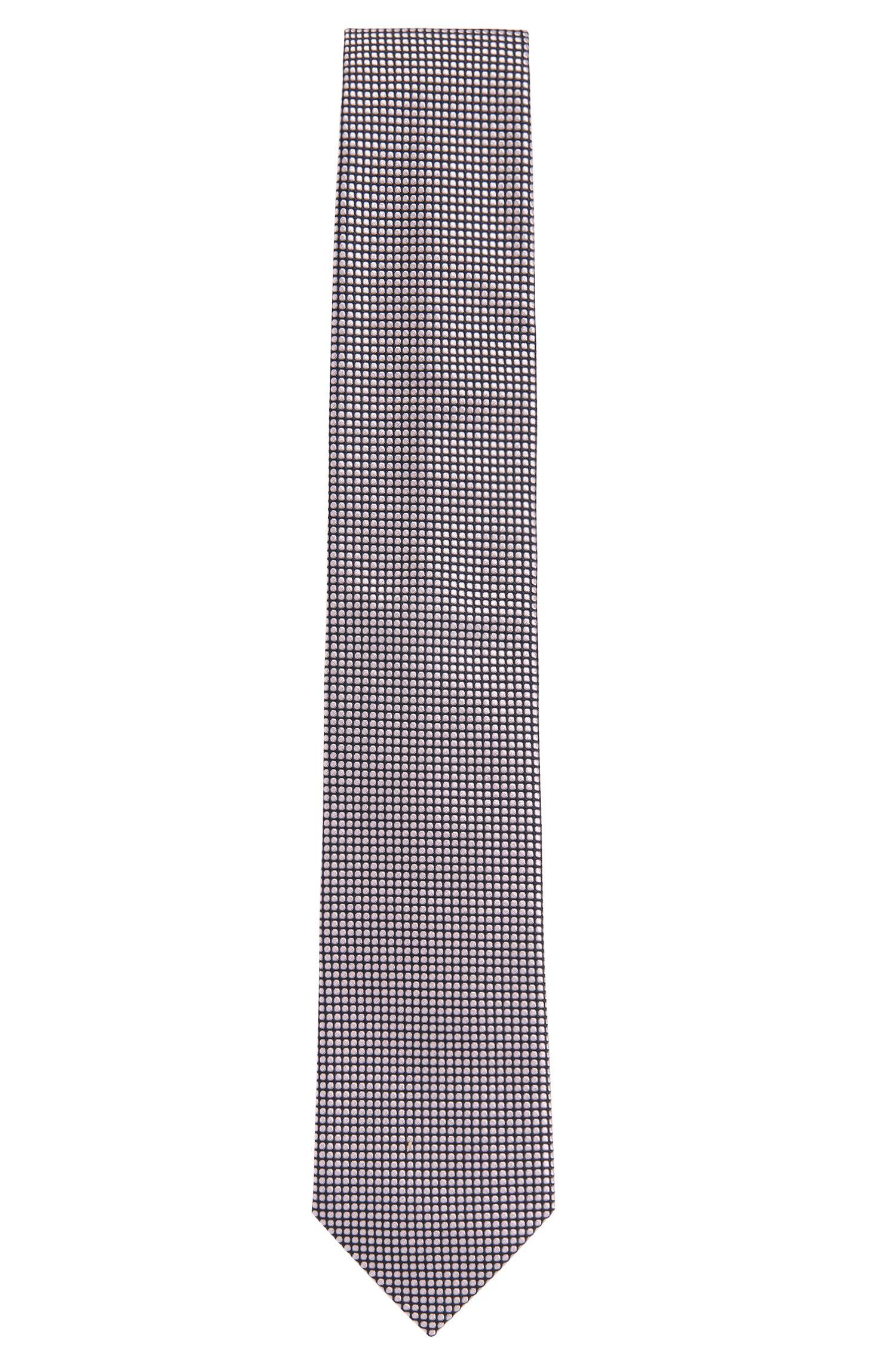 'Tie 7.5 cm' | Regular Jacquard Silk Tie, Open Pink
