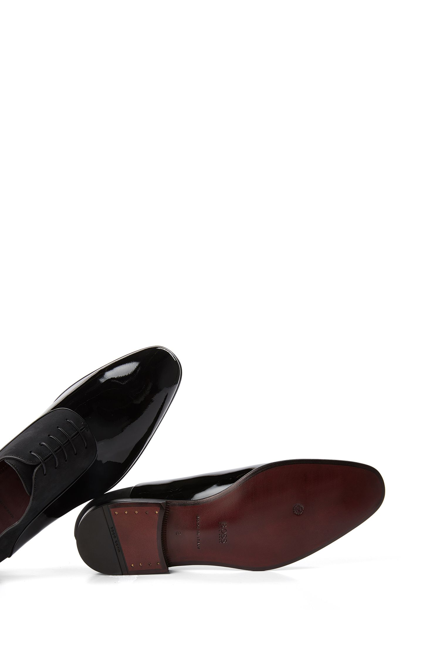 Italian Nubuck and Patent Leather Oxford Dress Shoe | T-Legend Oxfr Panu
