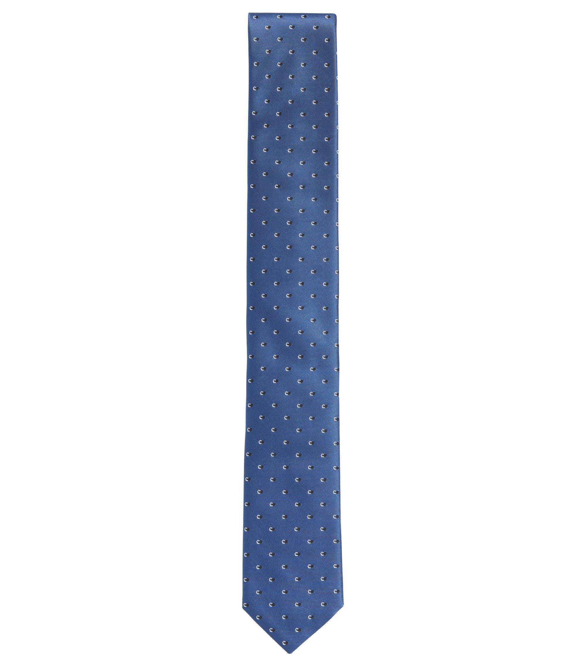 'Tie 6 cm' | Slim, Silk Embroidered Tie, Turquoise