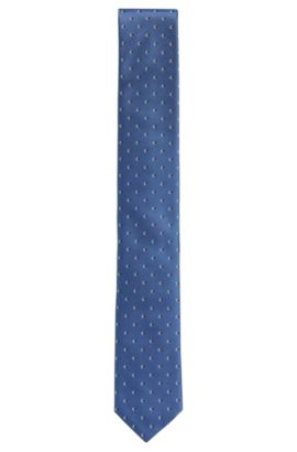'Tie 6 cm' | Slim, Silk Embroidered Tie, Turquoise