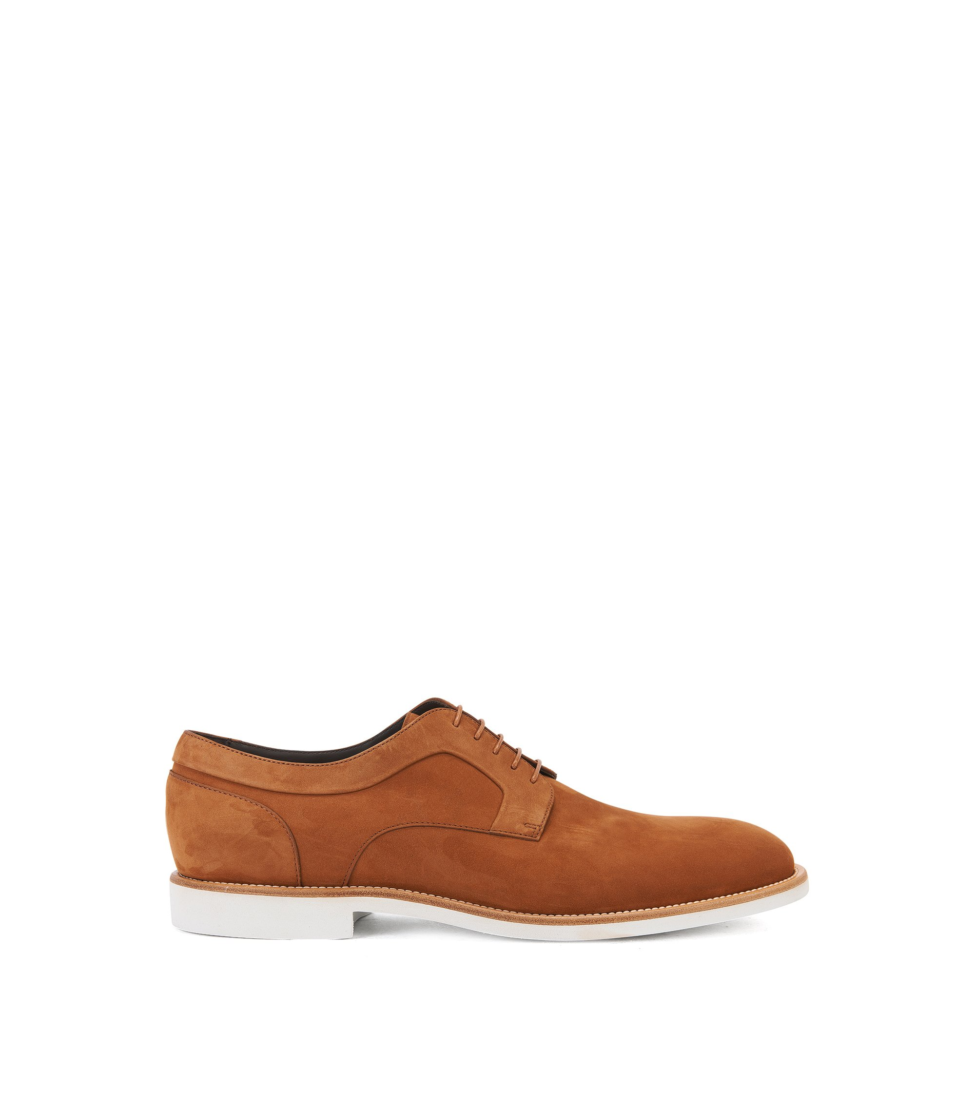 Italian Nubuck Derby Shoe | Ocean Derb Nu, Brown