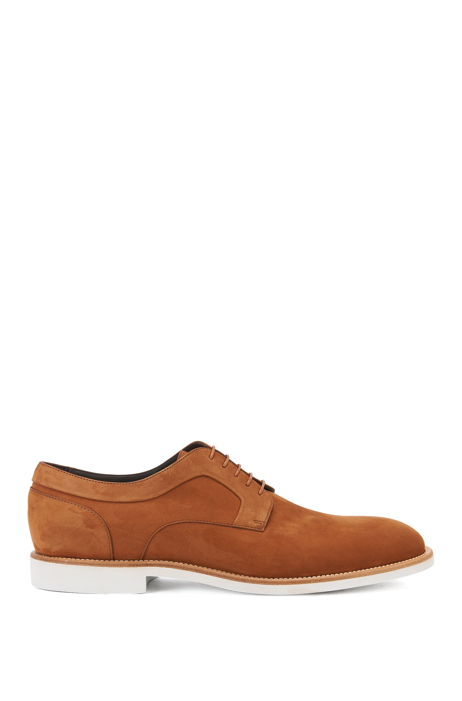 Italian Nubuck Derby Shoe | Ocean Derb Nu, Brown