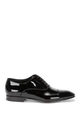 Italian Patent Leather Oxford Dress Shoe | Evening Oxfr Patct, Black