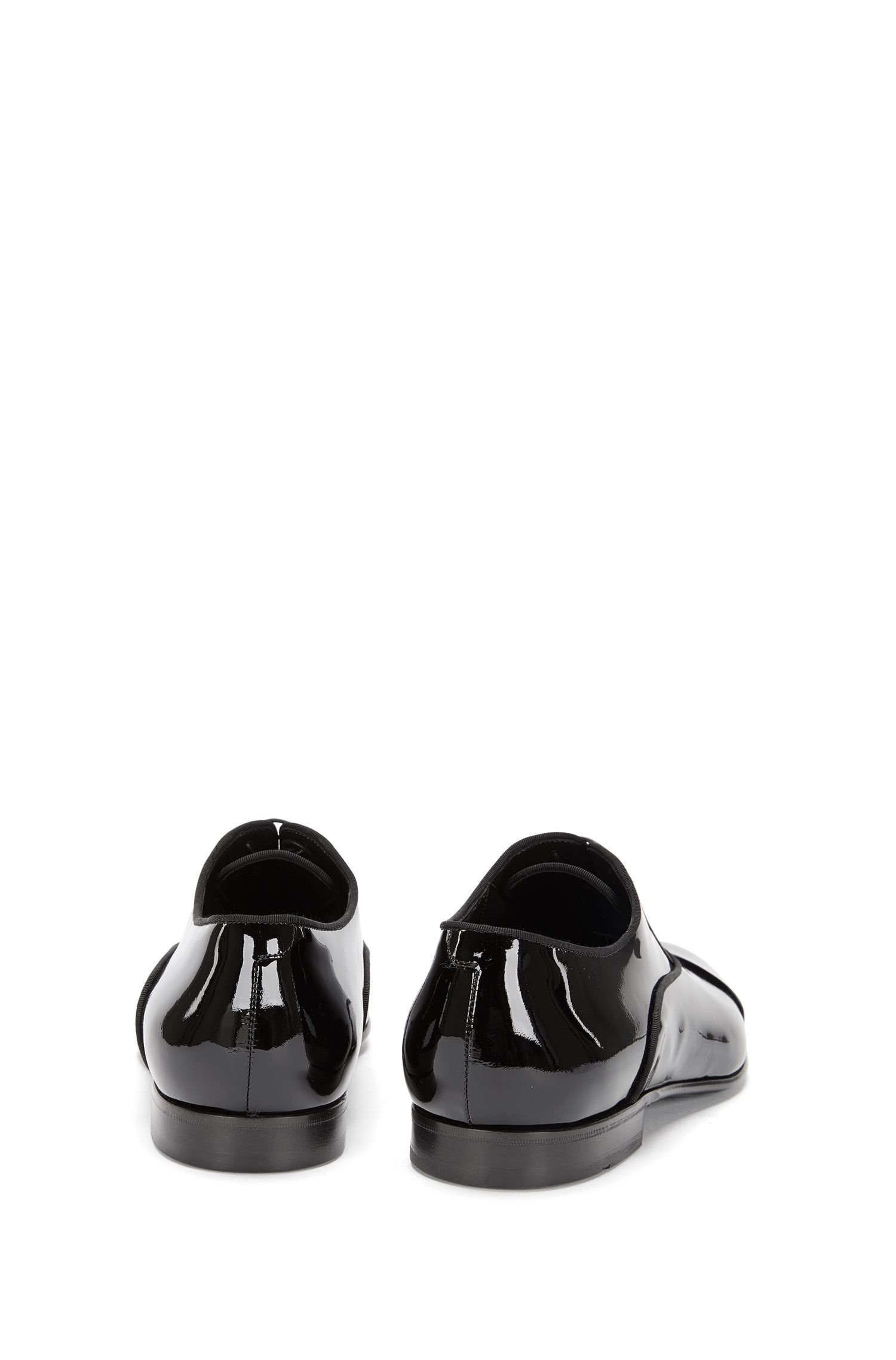 Italian Patent Leather Oxford Dress Shoe | Evening Oxfr Patct, Black