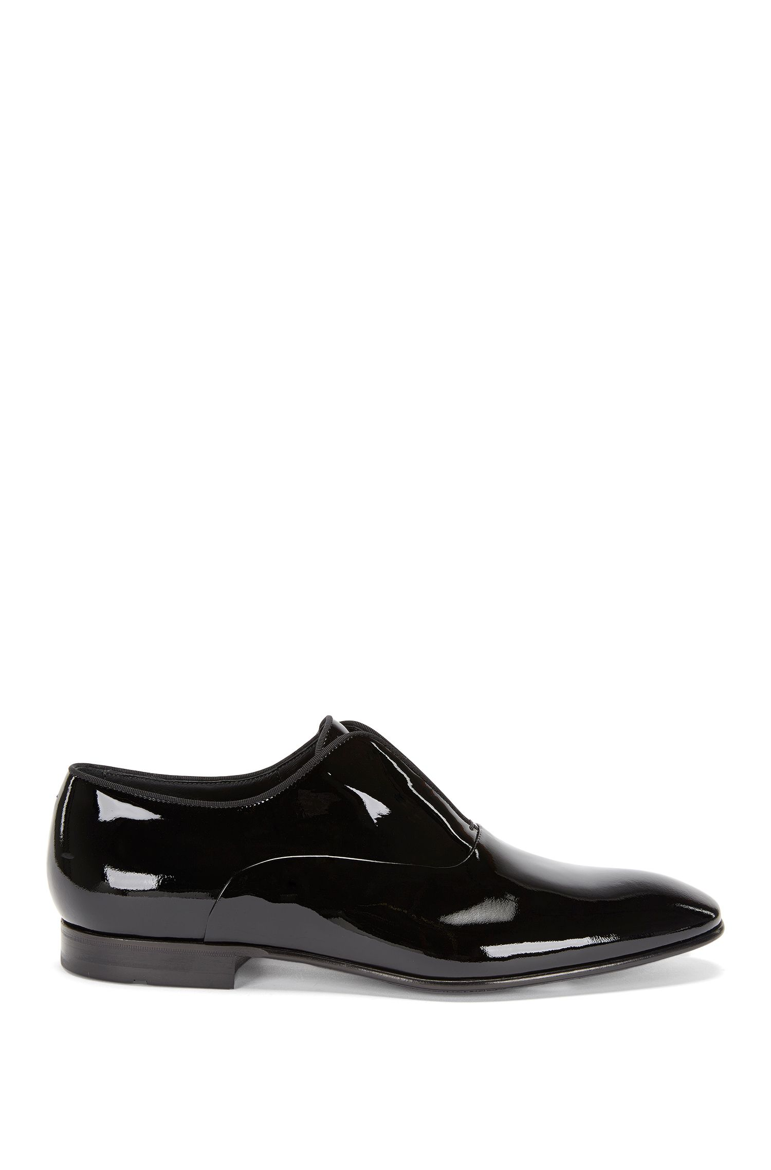 Italian Calfskin Patent Loafer | Evening Slon Pa, Black