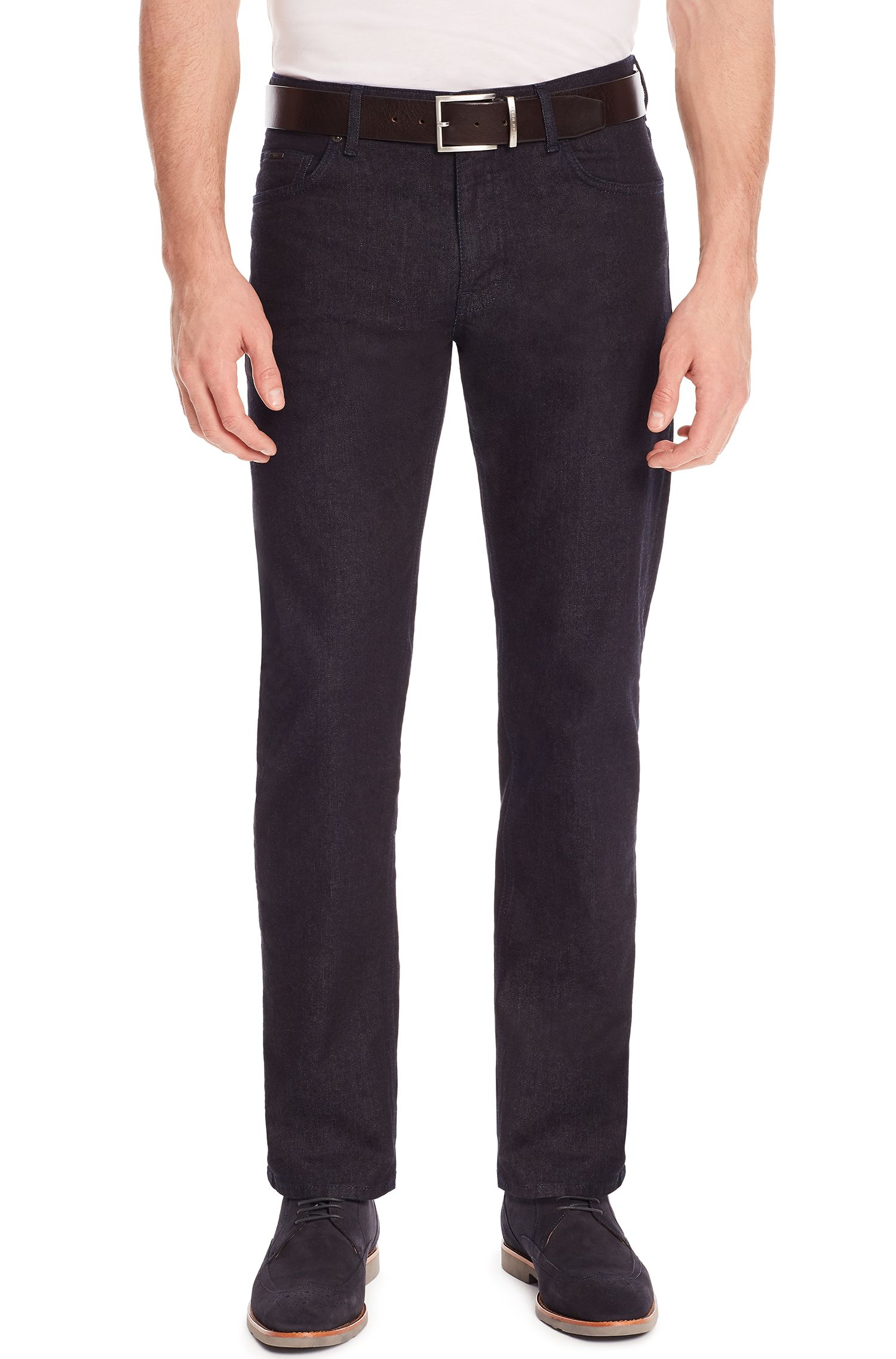 11 oz Stretch Cotton Jeans, Relaxed Fit | Albany, Dark Blue