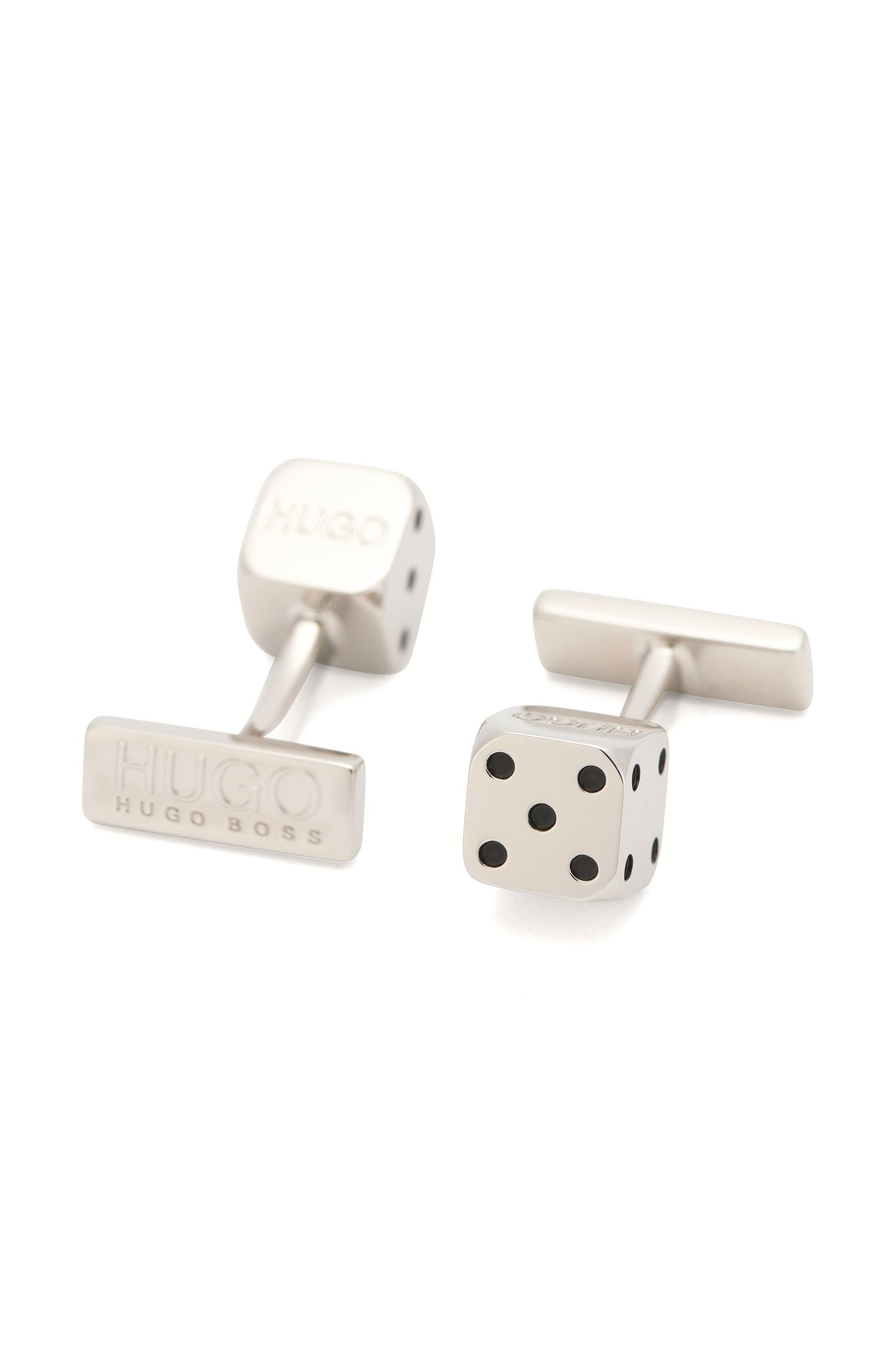 'E-DICE' | Brass Dice Cufflinks