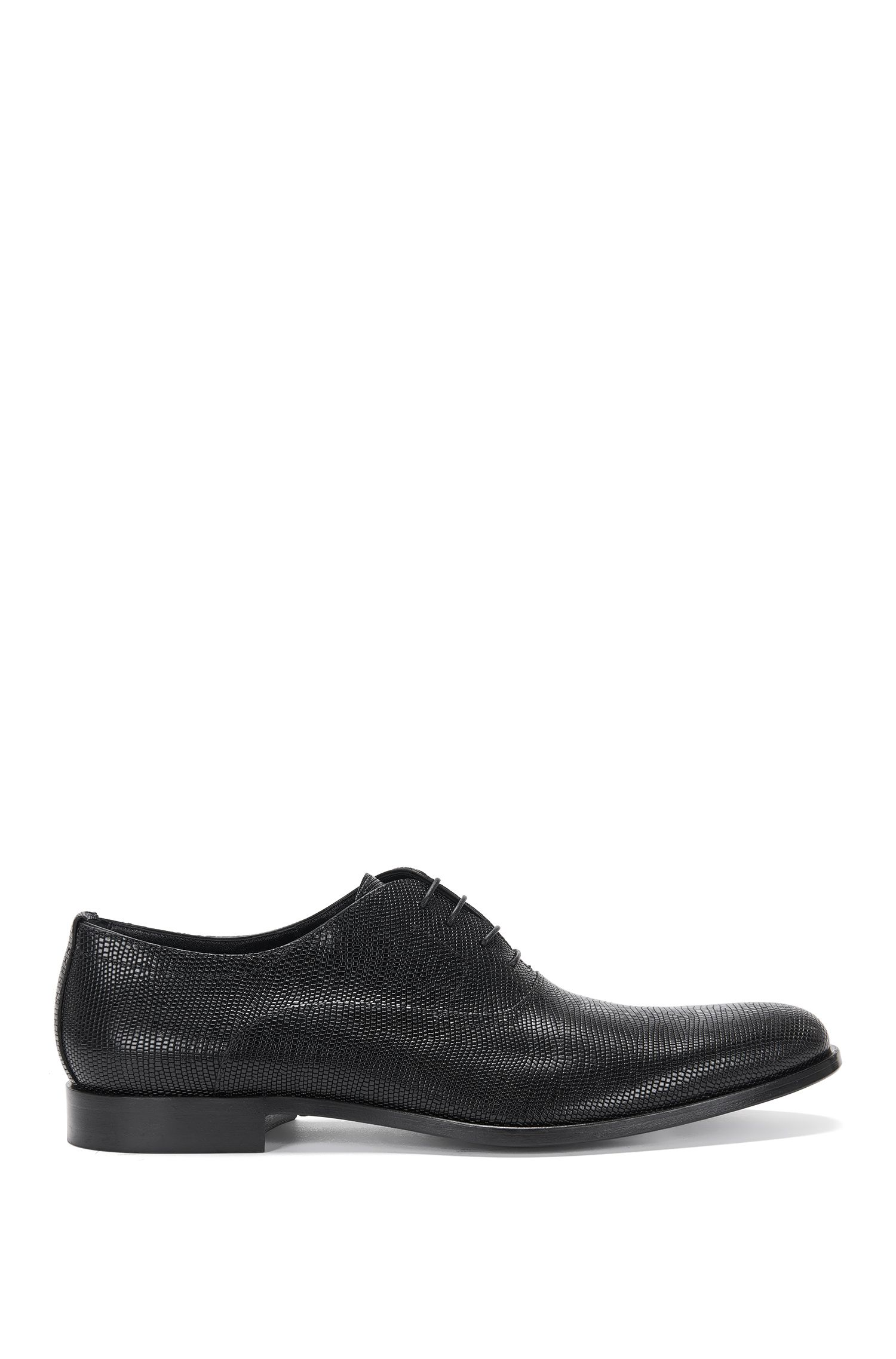 Italian Leather Embossed Oxford Dress Shoe | Sigma Oxfr Exo