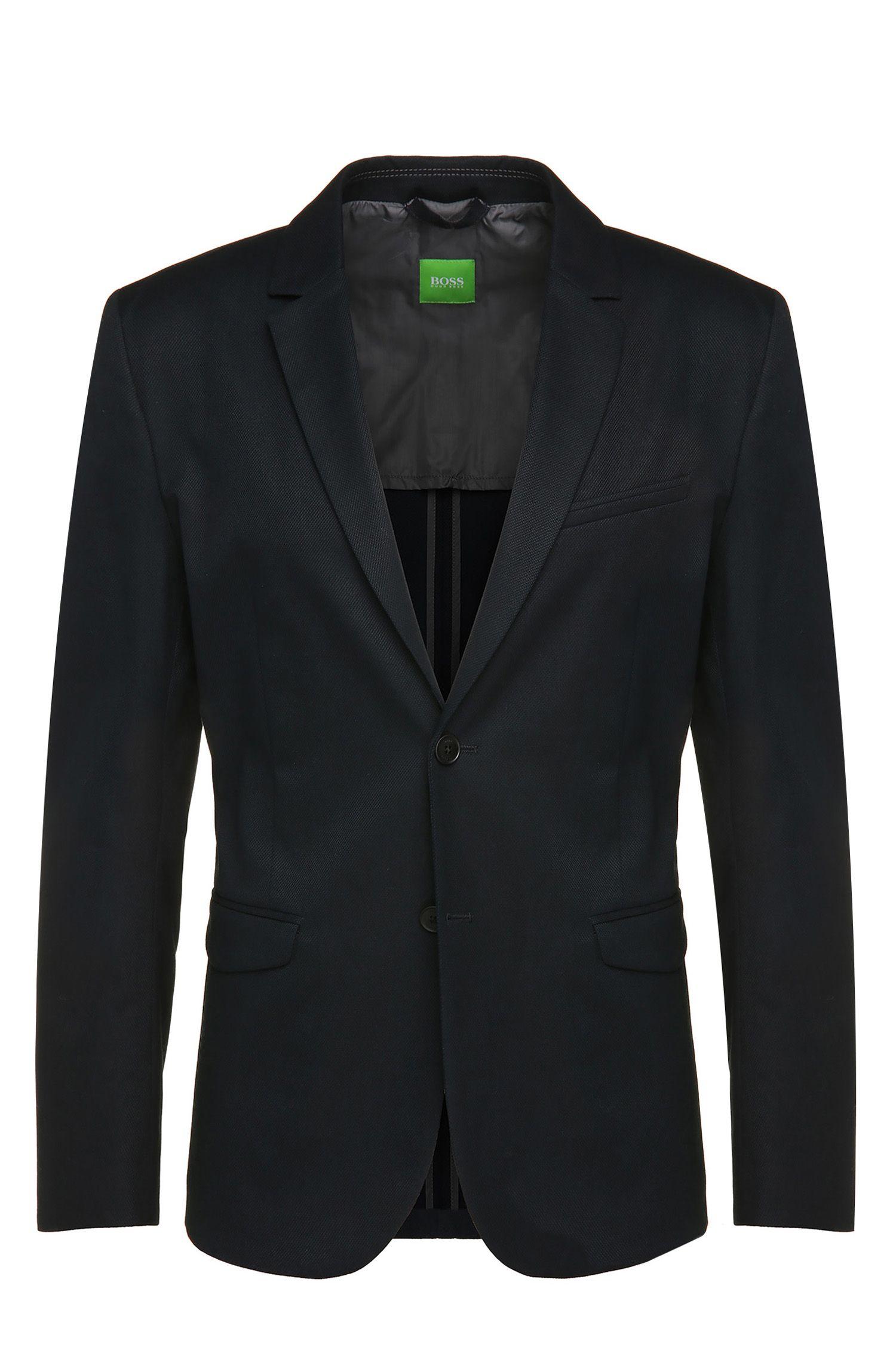 Cotton Textured Sport Coat, Slim Fit | Aymo