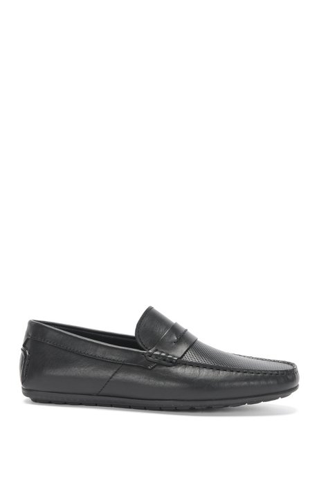 79b76158a15 HUGO - Leather Driving Loafer