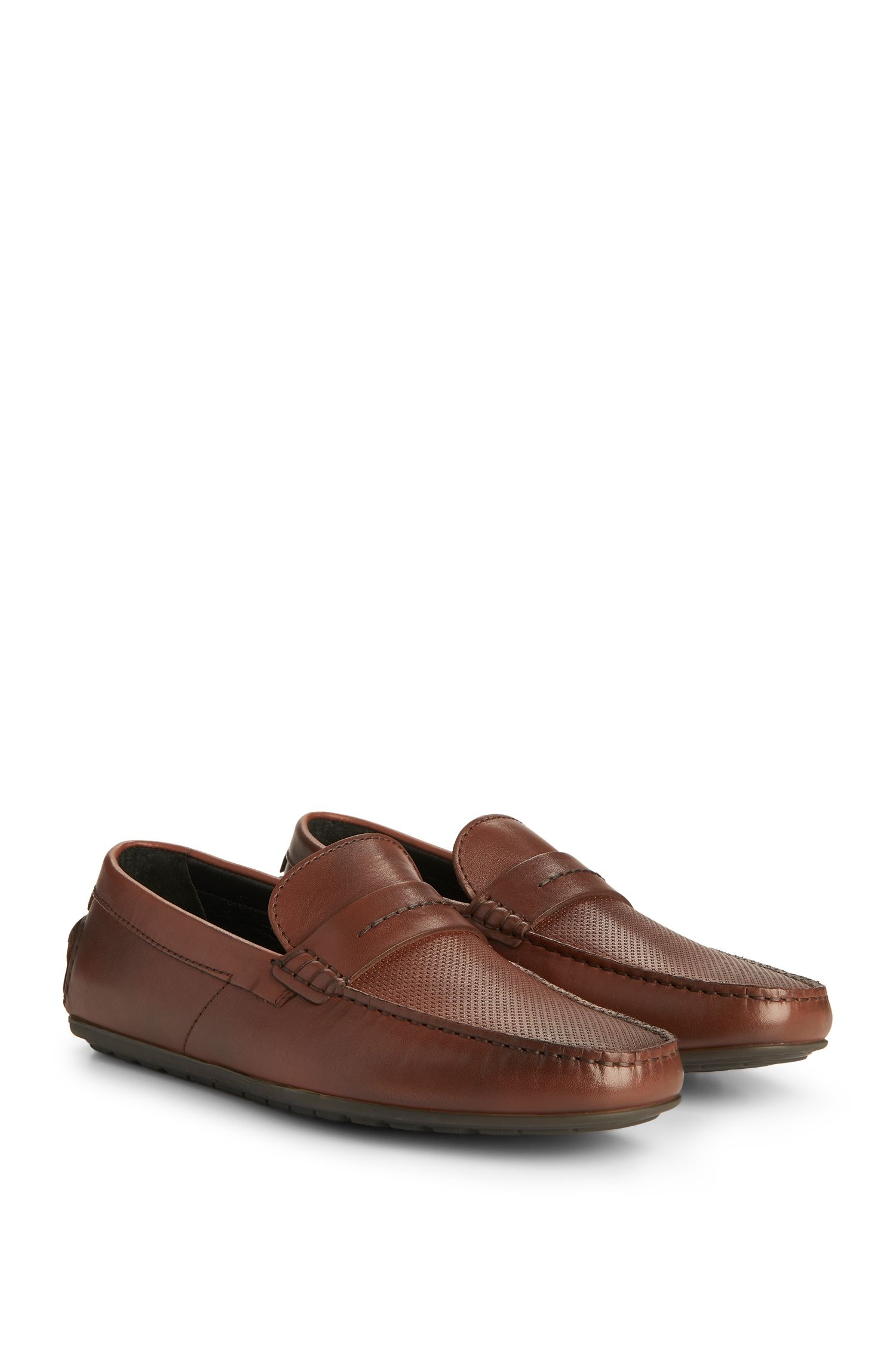 Leather Driving Loafer | Dandy Mocc Plpr, Light Brown