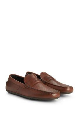 Leather Driving Loafer | Dandy Mocc Plpr, Light Brown
