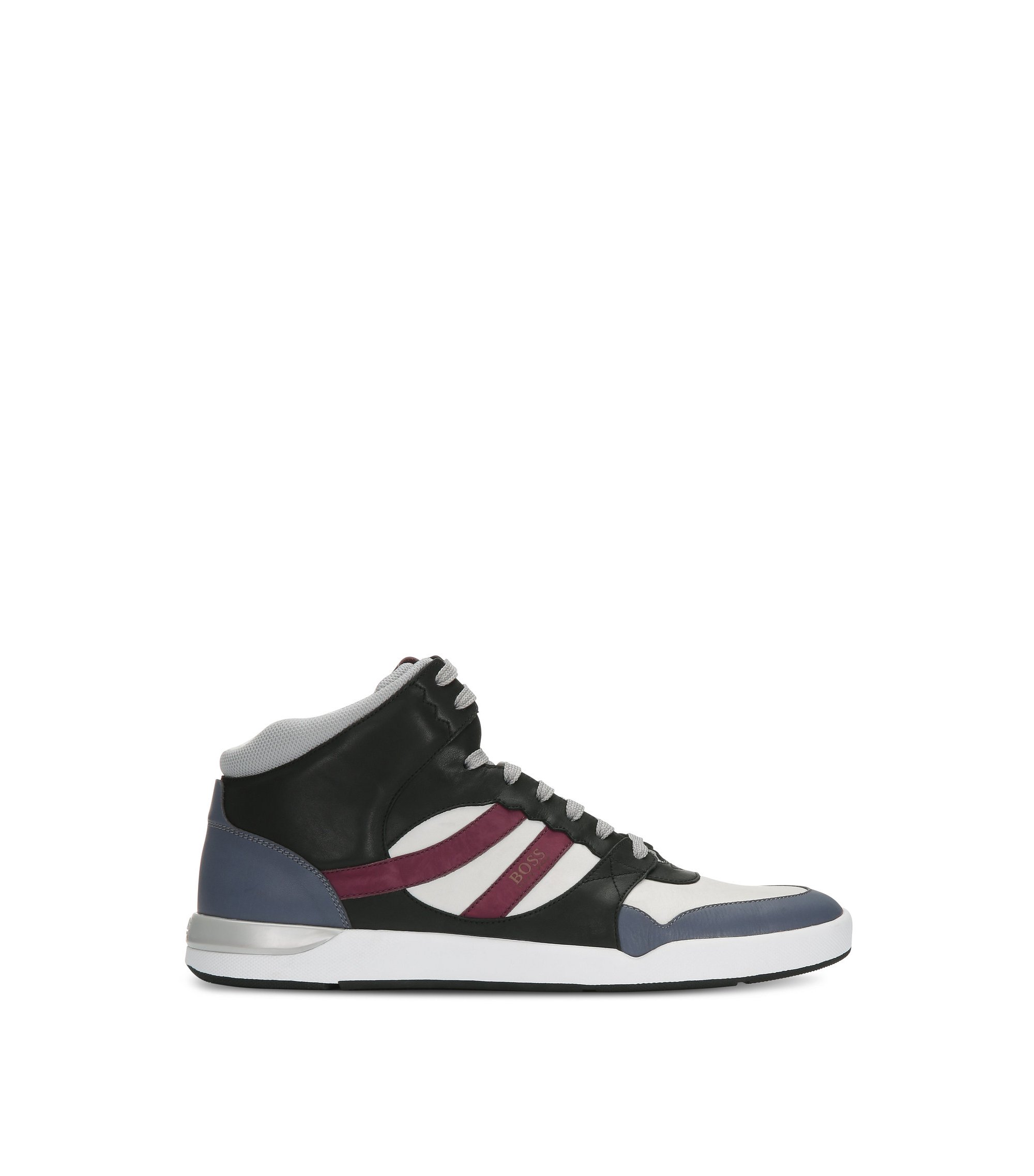 Leather High Top Sneaker | Stillnes Hito ltws, Open Purple